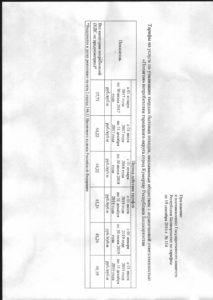 Тарифы по Постановлению №114  от 19.09.2016